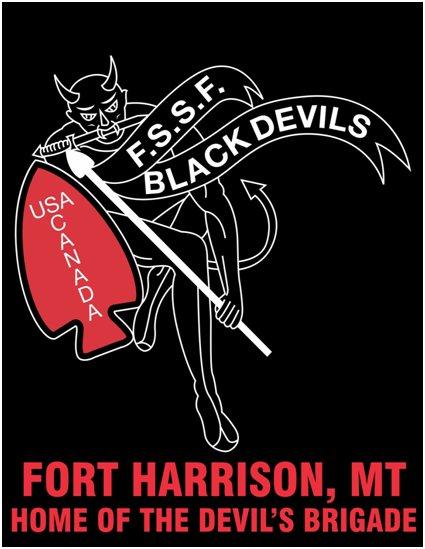 of the black devils army combat infantry badge belt buckle